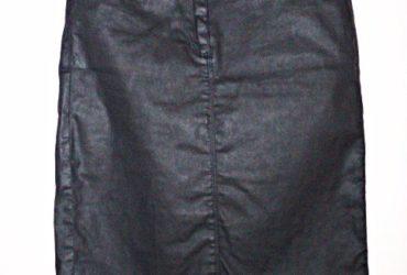 Jupe moulante noire effet cuir Phildar T.36