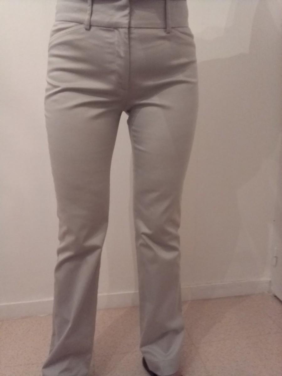 Pantalon gris Zara T.36