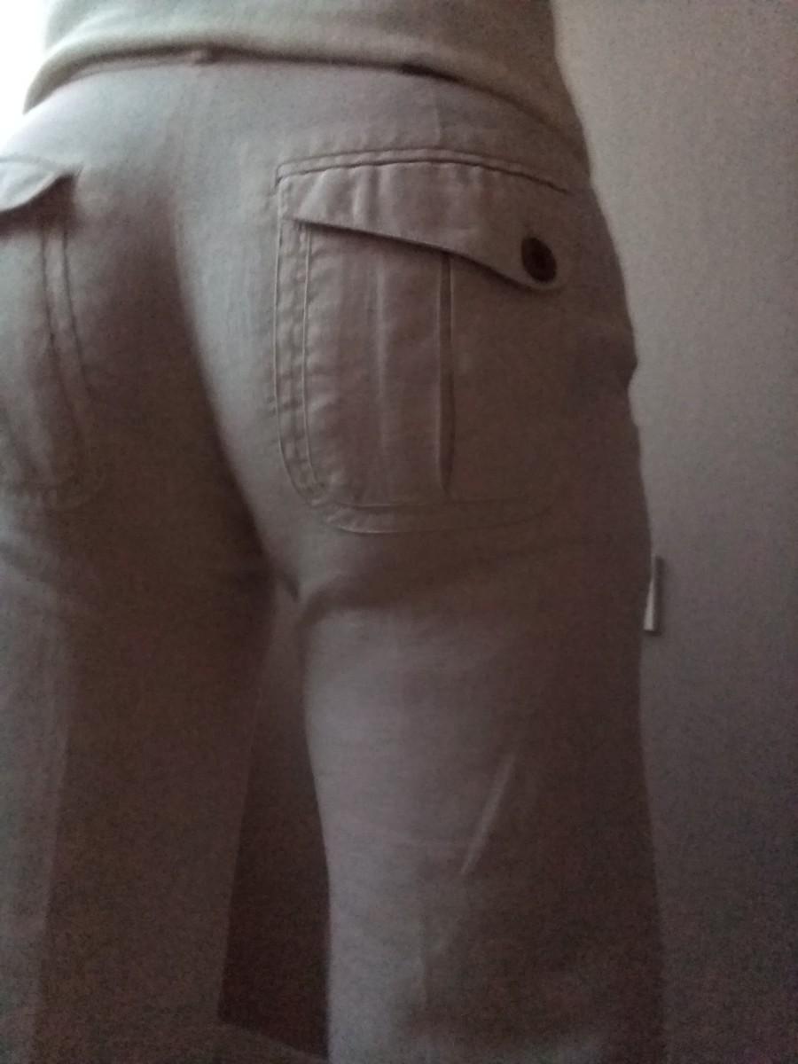 Pantalon lin les p'tites bombes T.34