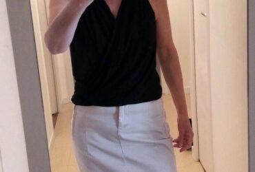 Jupe Zara Woman beige T.36