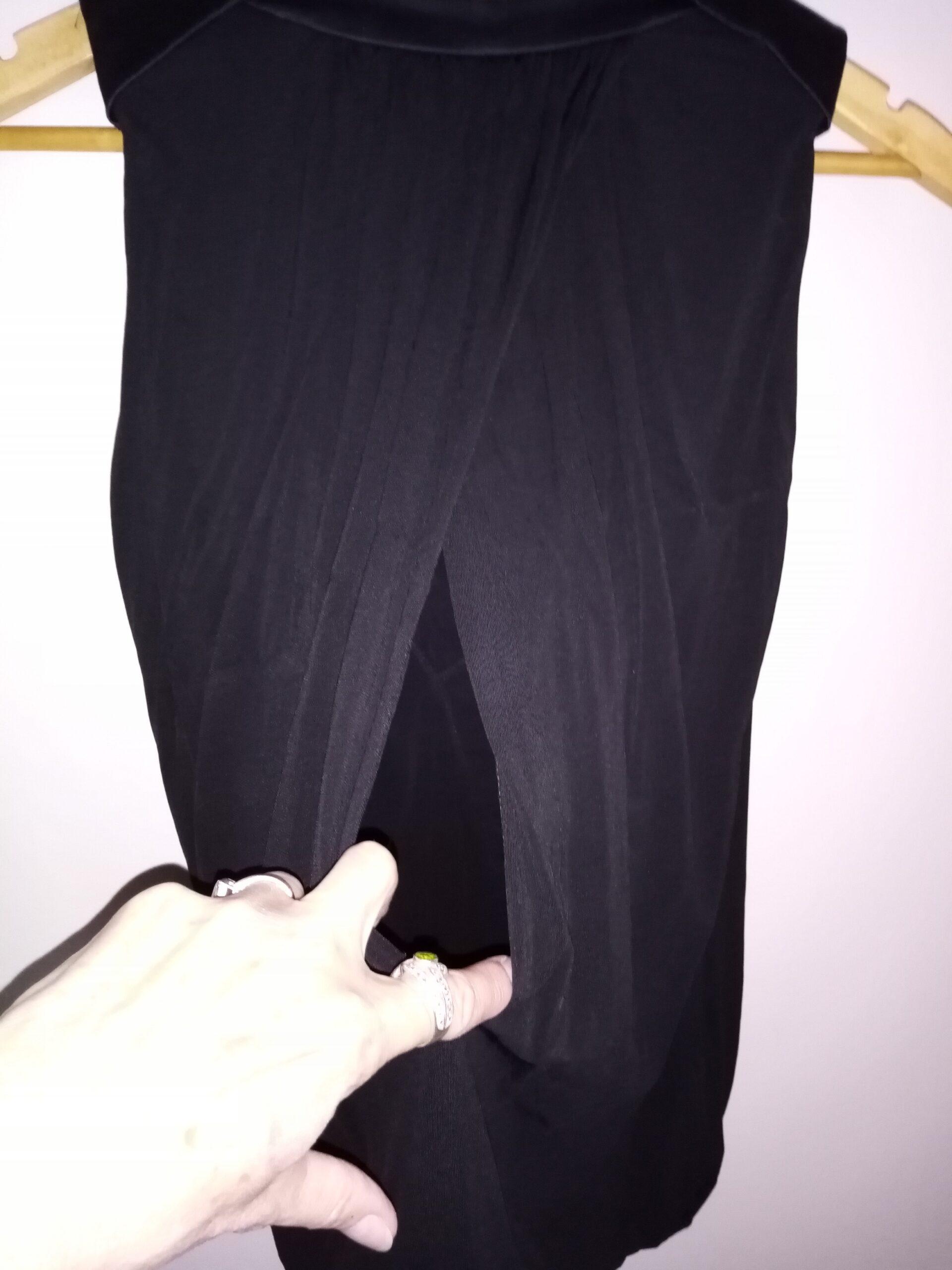 Top drapé noir Karen Millen T.36