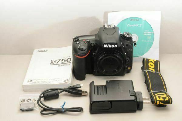 Appareil photo reflex numérique Nikon D750 24,3 MP – Noir